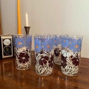 Vintage Flower Juice Glasses Swanky Swigs EUC 5